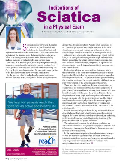 indications of sciatica article